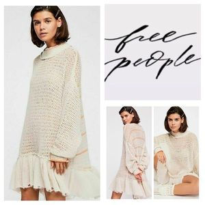 🆕Free People Float On Peplum Tunic Sweater. NWOT.